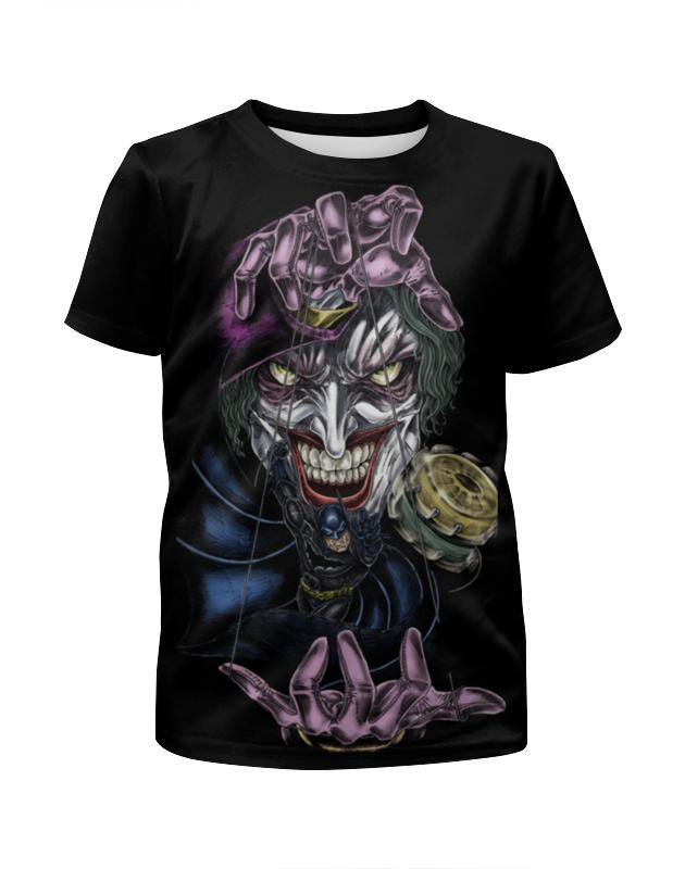 Футболка с полной запечаткой для мальчиков Printio Joker & batman футболка с полной запечаткой для девочек printio smile batman vs joker