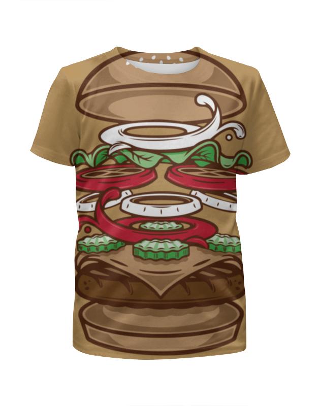 Футболка с полной запечаткой для мальчиков Printio Burger/бургер beer burger
