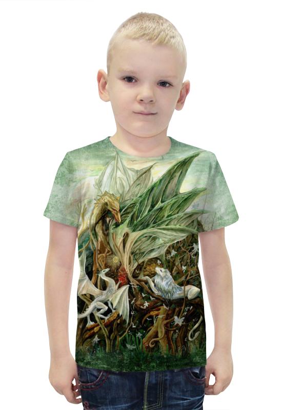 Футболка с полной запечаткой для мальчиков Printio На ветвях дракона футболка с полной запечаткой printio война миров z