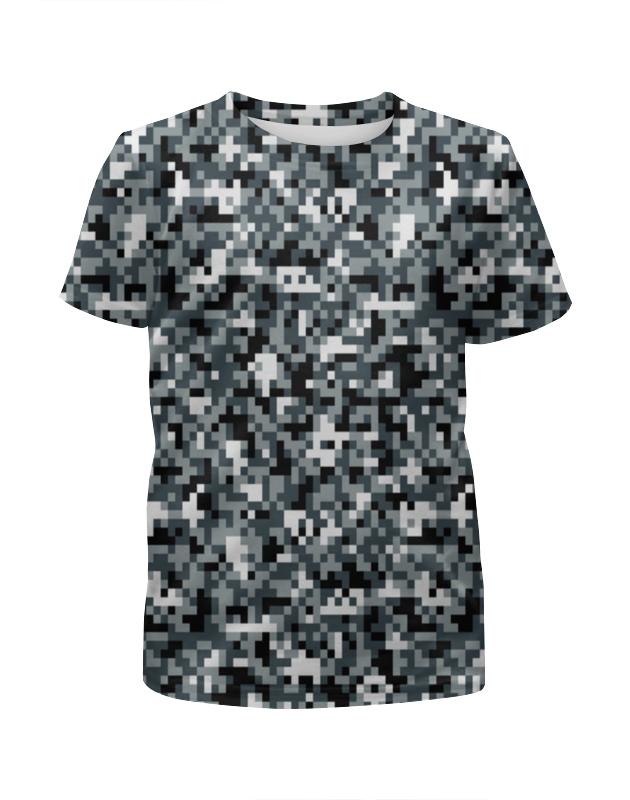 Футболка с полной запечаткой для мальчиков Printio Pixel camouflage футболка с полной запечаткой для мальчиков printio bats spawn arsb