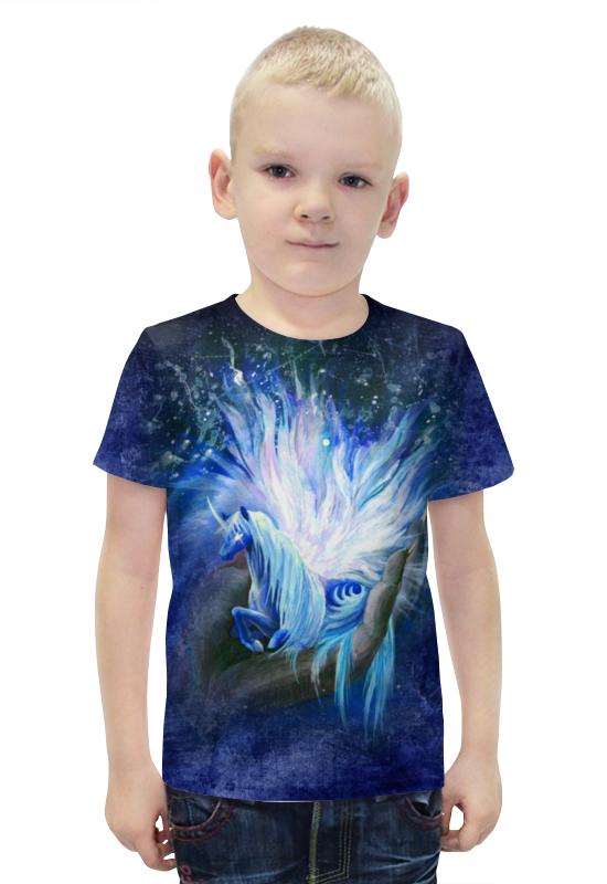 Футболка с полной запечаткой для мальчиков Printio Лунный единорог сотворенная футболка с полной запечаткой printio война миров z