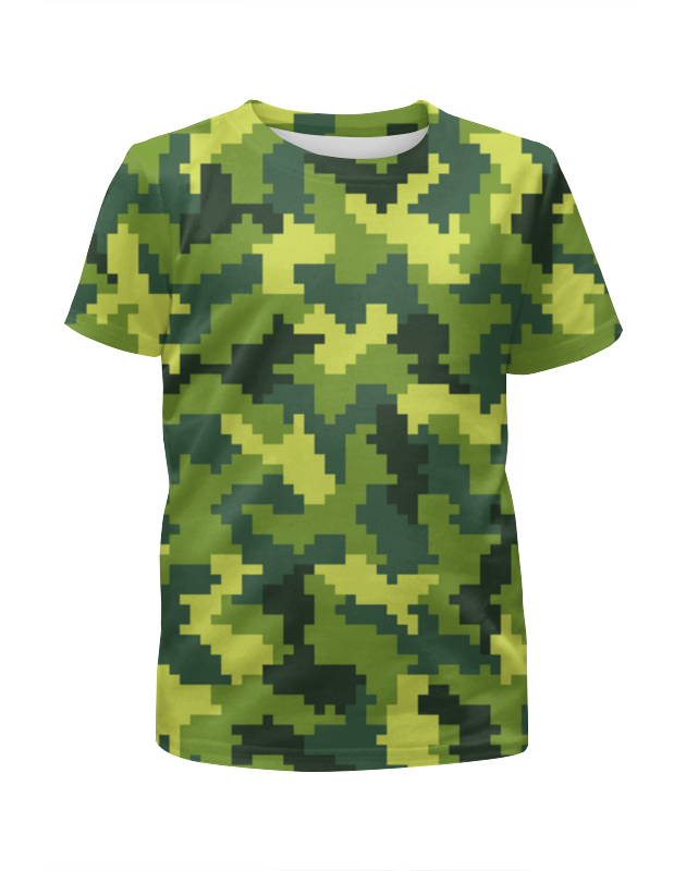 Футболка с полной запечаткой для мальчиков Printio Green camouflage футболка с полной запечаткой для мальчиков printio bats spawn arsb
