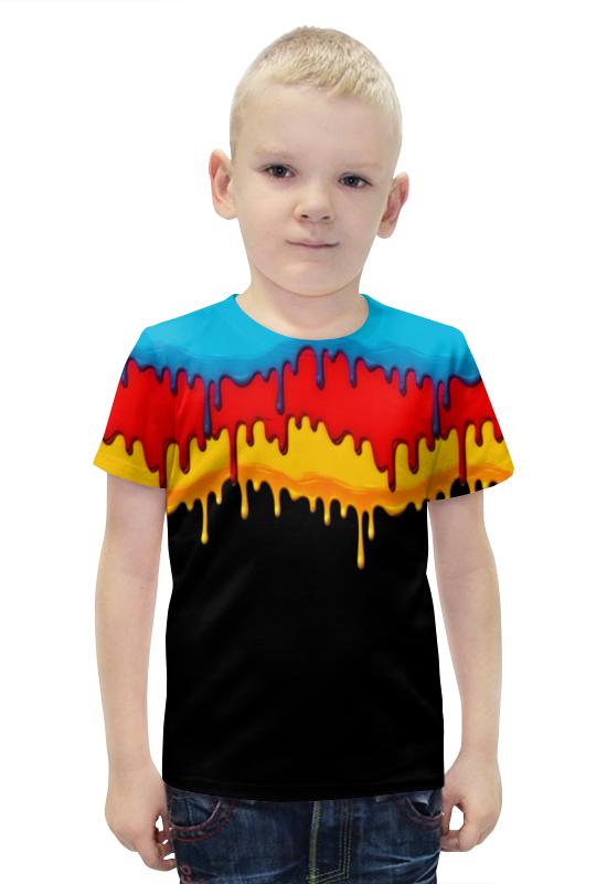 Футболка с полной запечаткой для мальчиков Printio Краска футболка с полной запечаткой для мальчиков printio bats spawn arsb