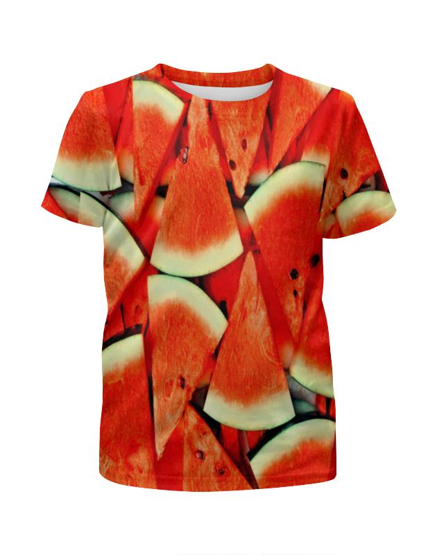 Футболка с полной запечаткой для мальчиков Printio Сочный арбуз рубашка поло с полной запечаткой printio сочный арбуз