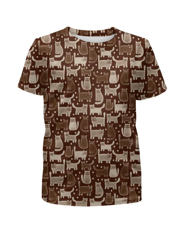 Футболка с полной запечаткой для мальчиков Printio Cats brown футболка с полной запечаткой для мальчиков printio camouflage brown