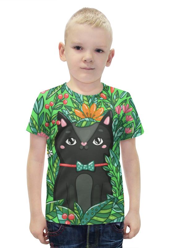 Футболка с полной запечаткой для мальчиков Printio Котик футболка с полной запечаткой для мальчиков printio bats spawn arsb