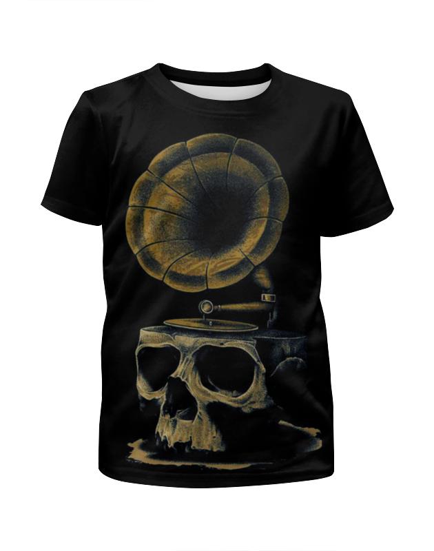 Футболка с полной запечаткой для мальчиков Printio Skull art футболка с полной запечаткой для мальчиков printio just some devil skull