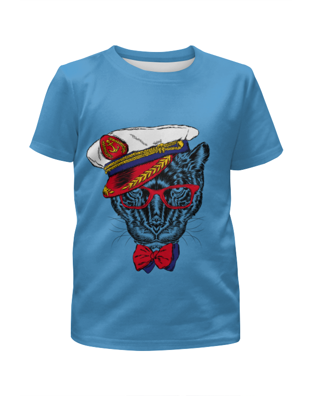 Футболка с полной запечаткой для мальчиков Printio Кот - мореход рубашка поло printio кот мореход