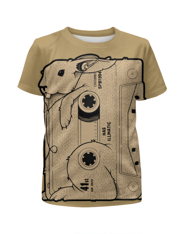 Футболка с полной запечаткой для мальчиков Printio Rabbit cool mix / крутой кроличий микс цена