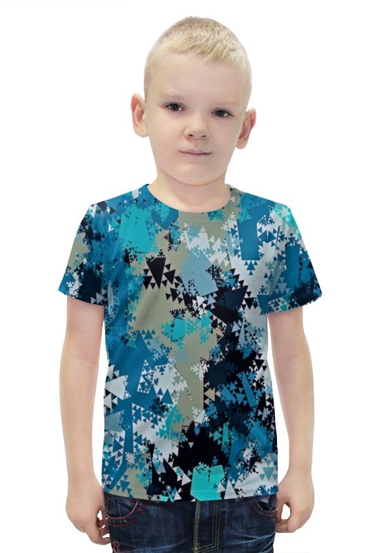 Футболка с полной запечаткой для мальчиков Printio Треугольники футболка с полной запечаткой для мальчиков printio bats spawn arsb