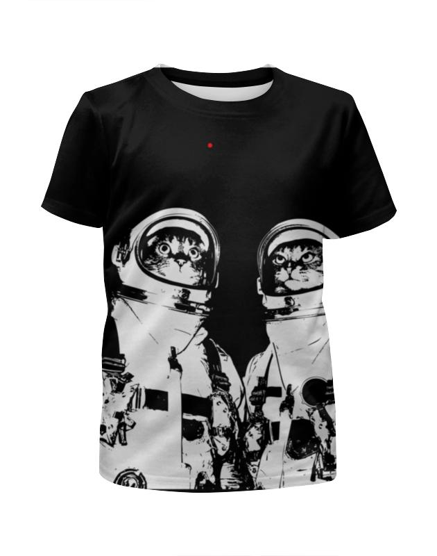 Футболка с полной запечаткой для мальчиков Printio Коты космонавты футболка с полной запечаткой для мальчиков printio bats spawn arsb