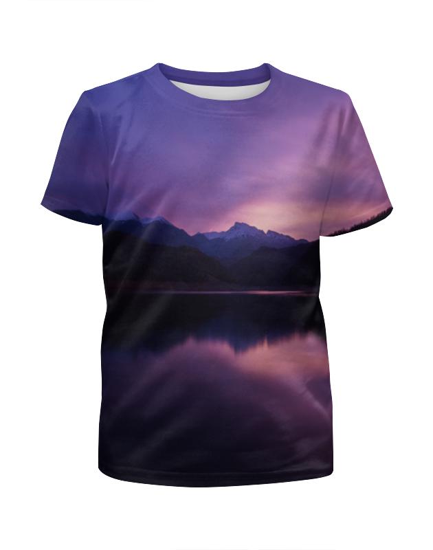 Футболка с полной запечаткой для мальчиков Printio Фиолетовый пейзаж футболка с полной запечаткой для мальчиков printio bats spawn arsb