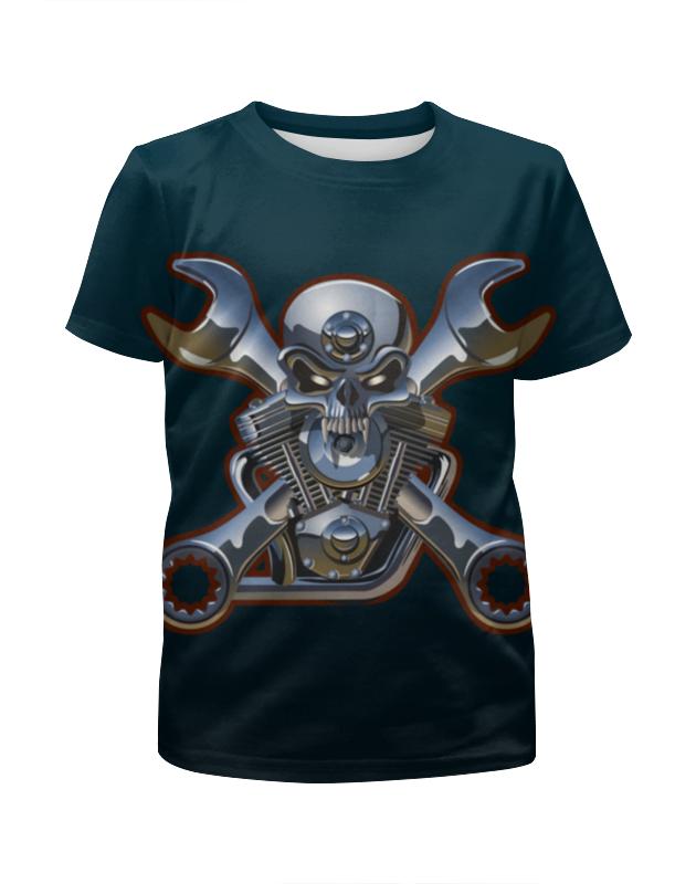 Футболка с полной запечаткой для мальчиков Printio Metal skull футболка с полной запечаткой для мальчиков printio bats spawn arsb