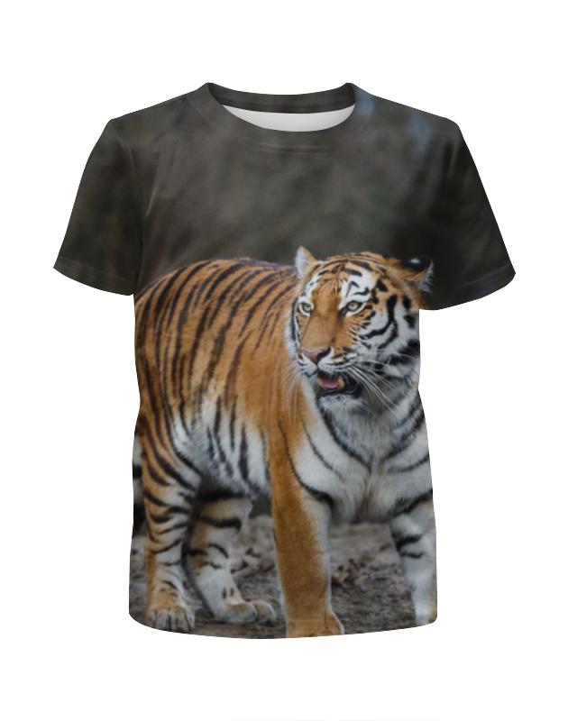 Футболка с полной запечаткой для мальчиков Printio Свирепый тигр футболка с полной запечаткой мужская printio тигр 3d