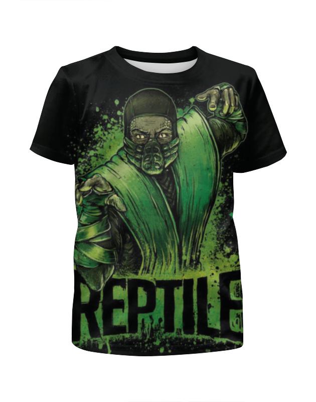 Футболка с полной запечаткой для мальчиков Printio Reptile футболка с полной запечаткой для мальчиков printio haiku