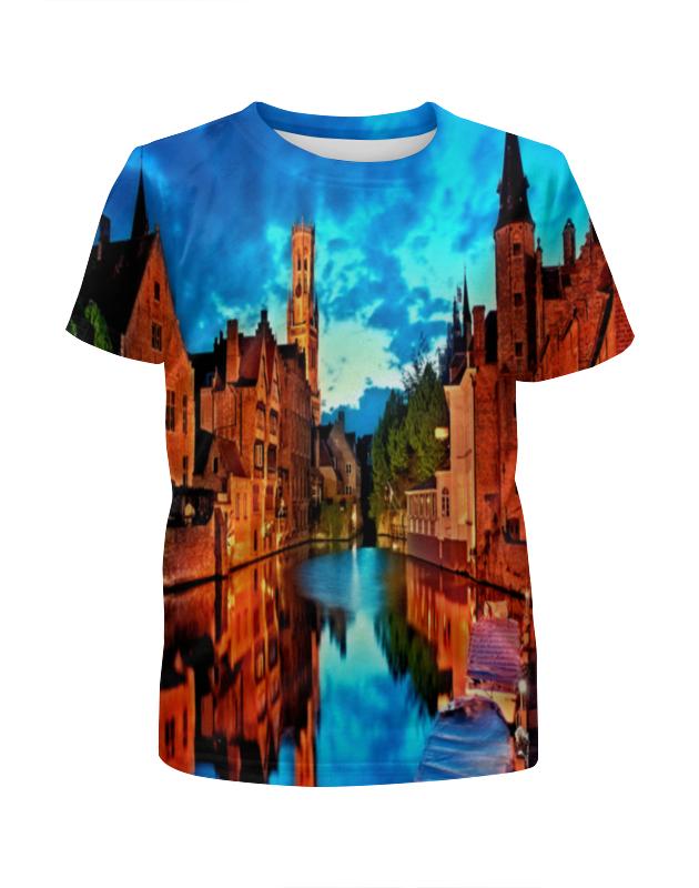 Футболка с полной запечаткой для мальчиков Printio Night city футболка с полной запечаткой для мальчиков printio bats spawn arsb