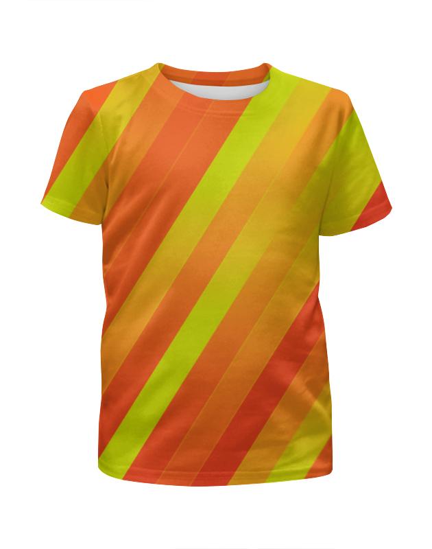 Футболка с полной запечаткой для мальчиков Printio Желто-оранжевые линии футболка с полной запечаткой для мальчиков printio узор линии