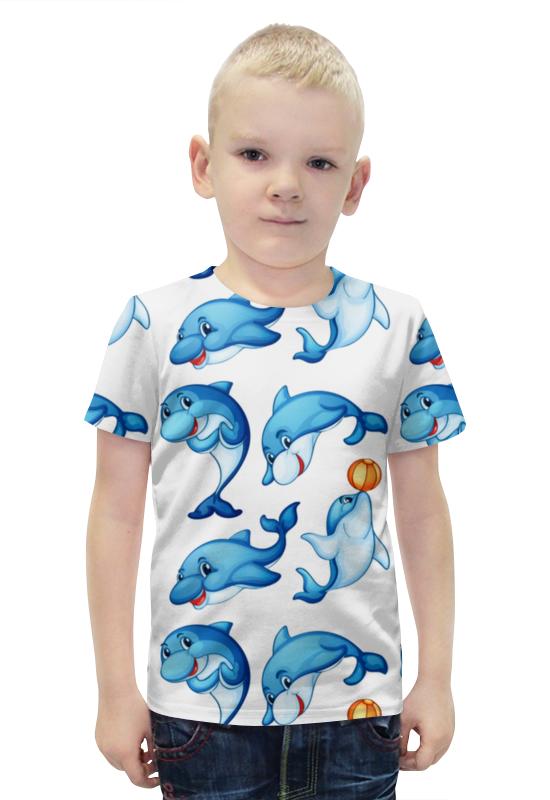 Футболка с полной запечаткой для мальчиков Printio Дельфины футболка с полной запечаткой для мальчиков printio bats spawn arsb
