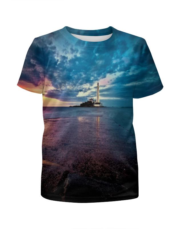 футболка с полной запечаткой для мальчиков printio остров в море Футболка с полной запечаткой для мальчиков Printio Маяк в море