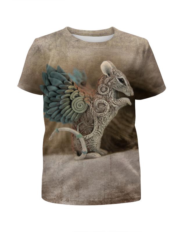 Футболка с полной запечаткой для мальчиков Printio Крыса-птичка футболка с полной запечаткой для мальчиков printio птичка