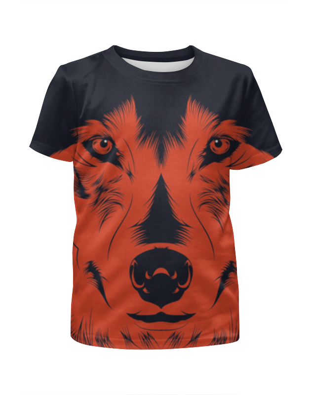 Футболка с полной запечаткой для мальчиков Printio Волк красный футболка с полной запечаткой для мальчиков printio тату волк