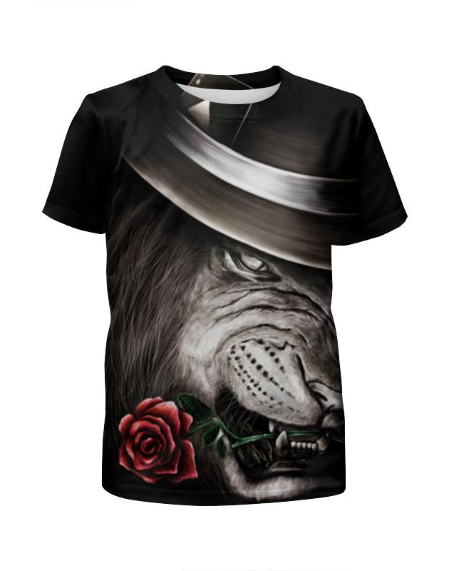 Футболка с полной запечаткой для мальчиков Printio Лев и роза футболка с полной запечаткой мужская printio распускающаяся роза