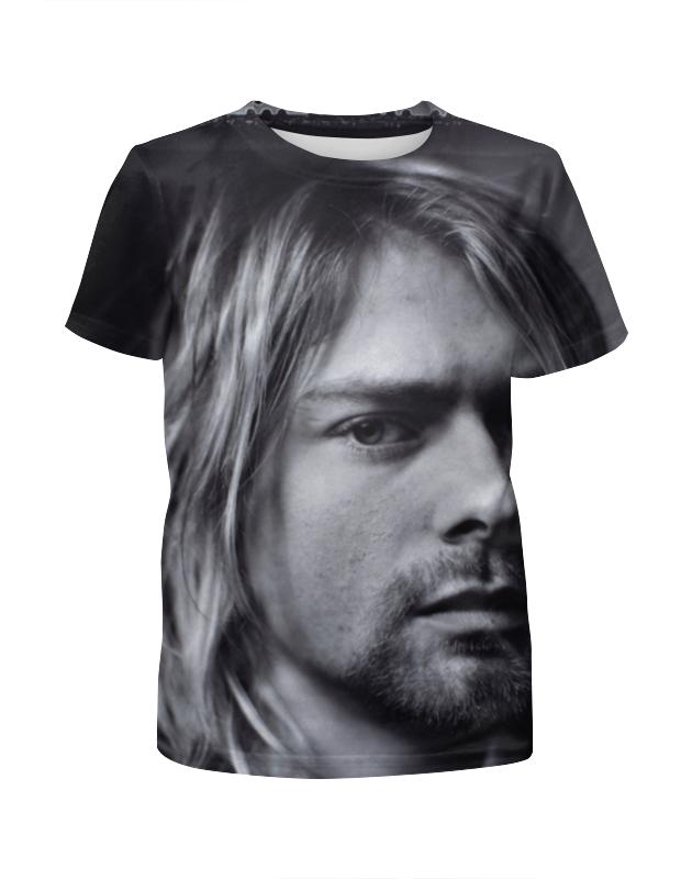 Printio Kurt cobain футболка с полной запечаткой для девочек printio kurt cobain guitar full print