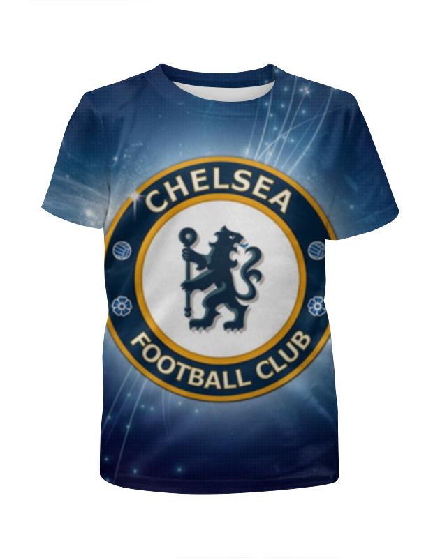 Футболка с полной запечаткой для мальчиков Printio Chelsea (челси) майка классическая printio челси