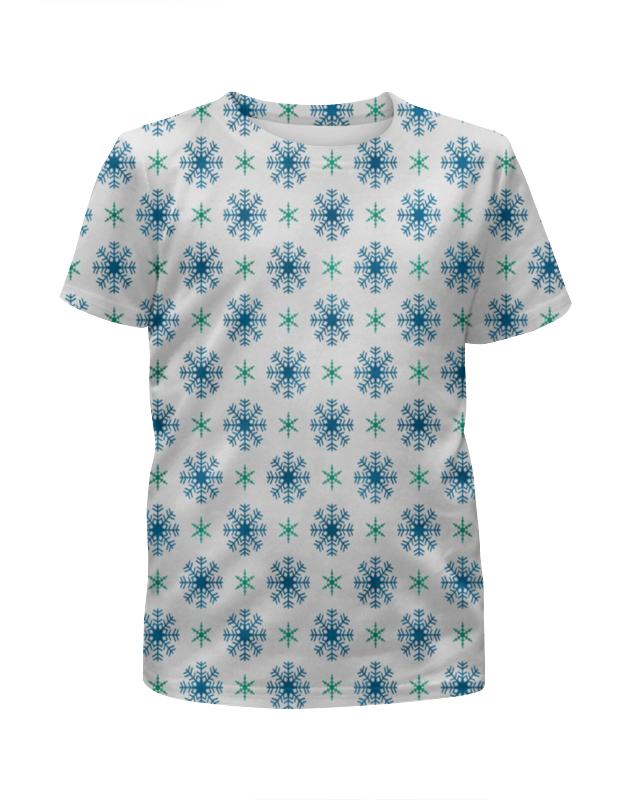 Футболка с полной запечаткой для мальчиков Printio Падающие снежинки футболка с полной запечаткой мужская printio падающие снежинки