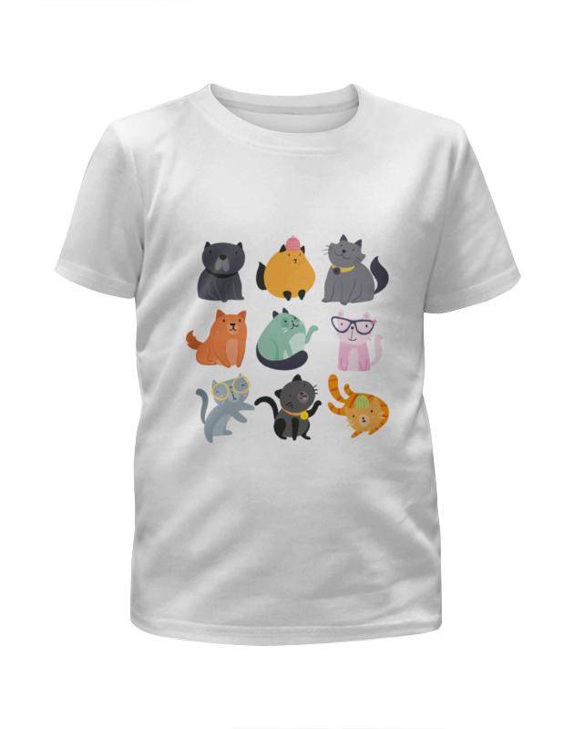 Футболка с полной запечаткой для мальчиков Printio Цветные кошки цена