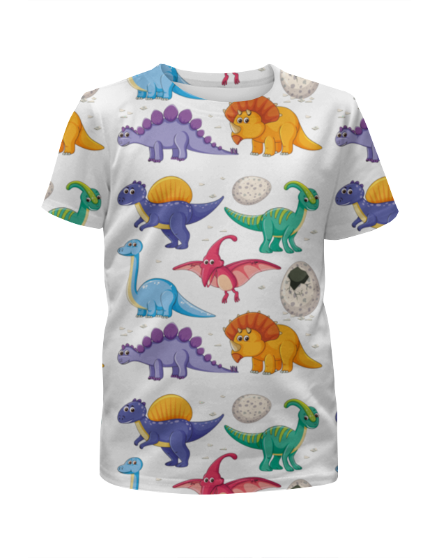 Футболка с полной запечаткой для мальчиков Printio Динозавры футболка с полной запечаткой для мальчиков printio rainbowsix siege