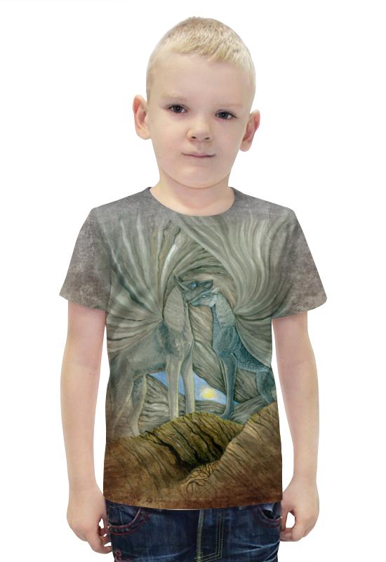 Футболка с полной запечаткой для мальчиков Printio Волки хранители солнца футболка с полной запечаткой printio война миров z