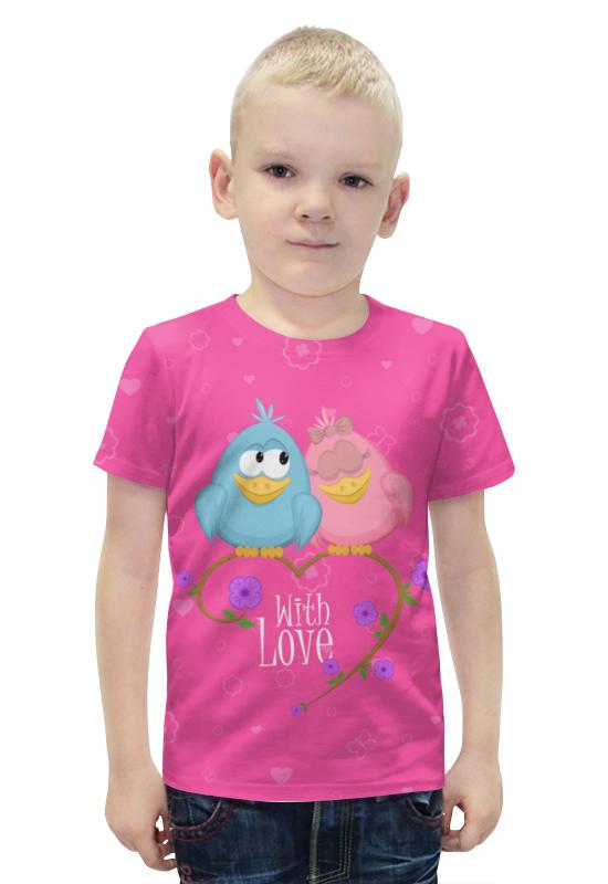 Футболка с полной запечаткой для мальчиков Printio Милые птички. with love. футболка с полной запечаткой для девочек printio птички