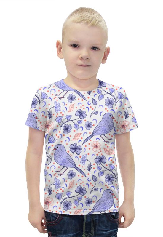 Футболка с полной запечаткой для мальчиков Printio Птички и цветочки футболка с полной запечаткой для девочек printio птички