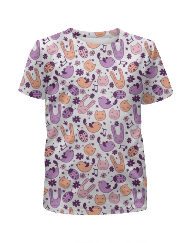 Printio Cartoon animals футболка с полной запечаткой для девочек printio animals