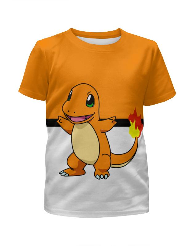 Printio Покемон чармандер футболка с полной запечаткой для мальчиков printio ящерица