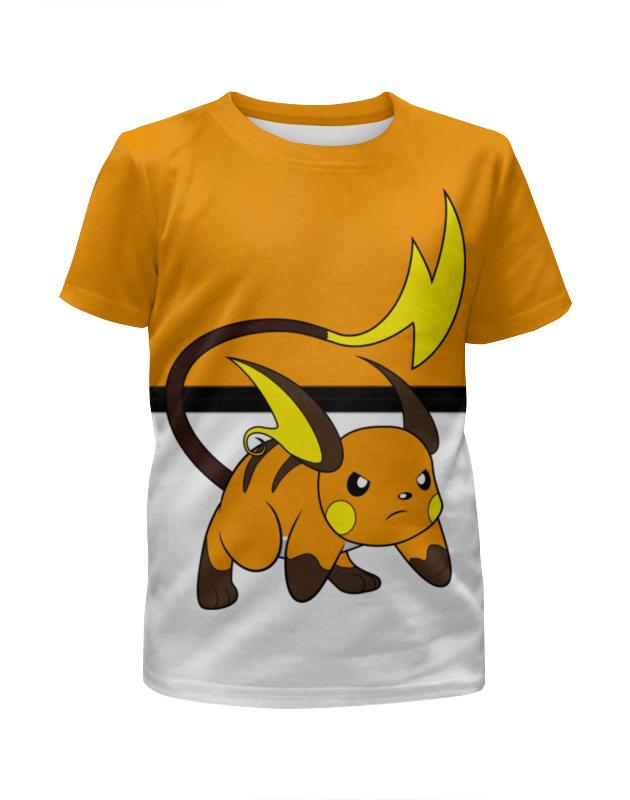 Футболка с полной запечаткой для мальчиков Printio Pokemon raichu цена