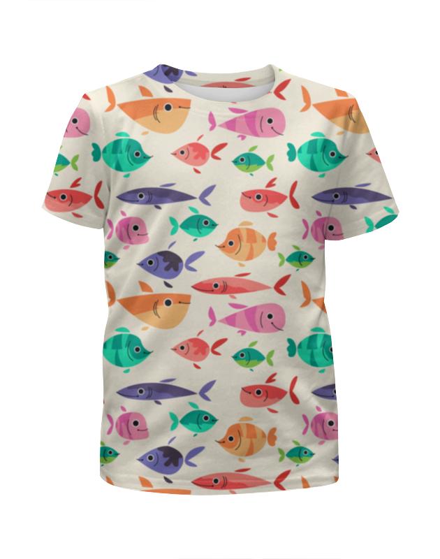 Футболка с полной запечаткой для мальчиков Printio Рыбки футболка с полной запечаткой для мальчиков printio тропические рыбки