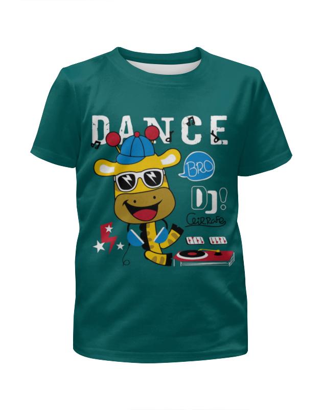 Футболка с полной запечаткой для мальчиков Printio Dance цена