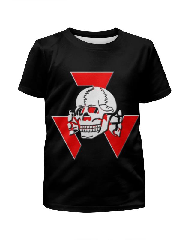 Футболка с полной запечаткой для мальчиков Printio Череп футболка с полной запечаткой для мальчиков printio braaaaatnsssss