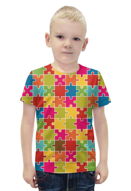 Футболка с полной запечаткой для мальчиков Printio Puzzle футболка с полной запечаткой для мальчиков printio bats spawn arsb