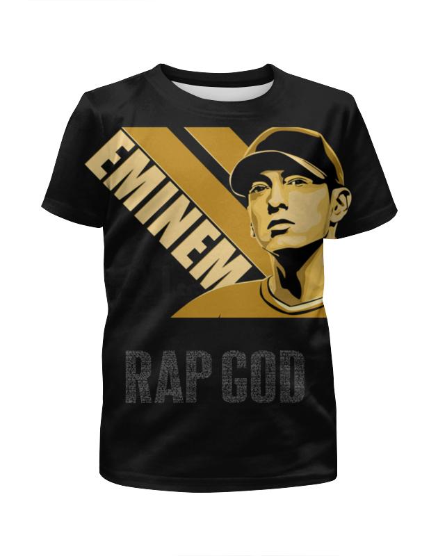Футболка с полной запечаткой для мальчиков Printio Rap god футболка с полной запечаткой для мальчиков printio god of war