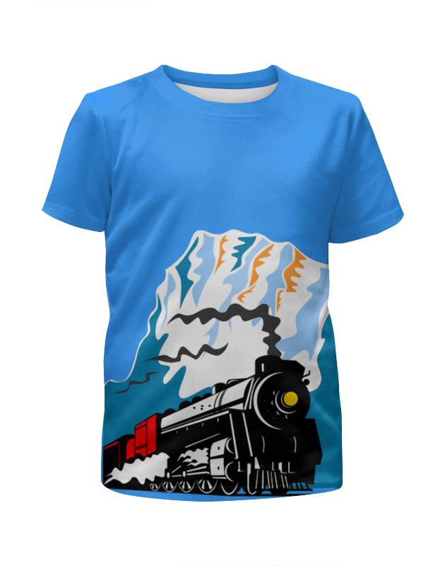 Футболка с полной запечаткой для мальчиков Printio Поезд футболка с полной запечаткой для мальчиков printio на отдых
