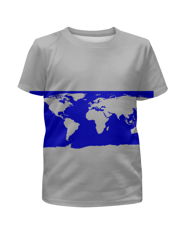 Футболка с полной запечаткой для мальчиков Printio Карта мира