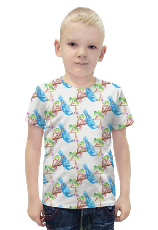 Футболка с полной запечаткой для мальчиков Printio Птички футболка с полной запечаткой для мальчиков printio bats spawn arsb