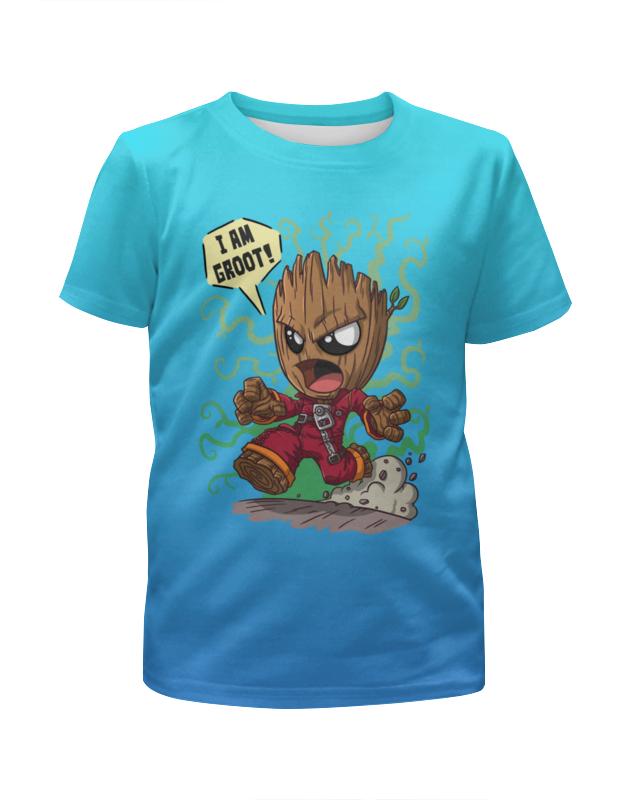 Футболка с полной запечаткой для мальчиков Printio Groot футболка с полной запечаткой для мальчиков printio грут groot