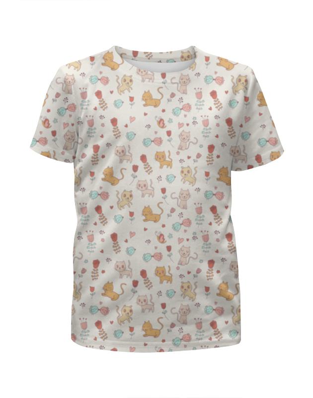 Футболка с полной запечаткой для мальчиков Printio Котята и птички футболка с полной запечаткой для девочек printio птички