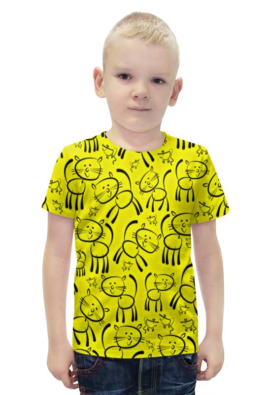 Футболка с полной запечаткой для мальчиков Printio Котенок футболка с полной запечаткой для мальчиков printio bats spawn arsb