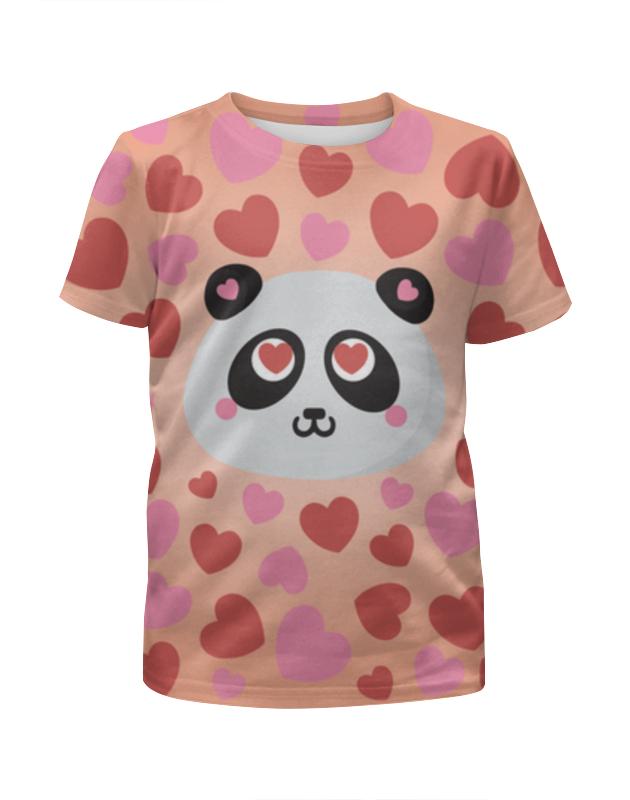 Футболка с полной запечаткой для мальчиков Printio Влюбленная панда футболка с полной запечаткой для девочек printio панда