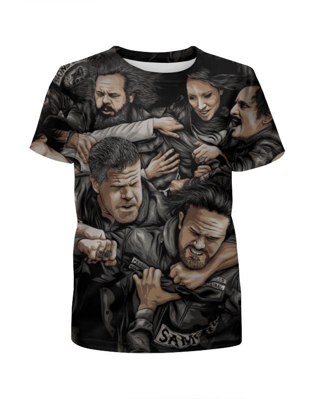 Футболка с полной запечаткой для мальчиков Printio Сыны анархии футболка с полной запечаткой для мальчиков printio haiku